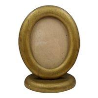 Ca 1930 Oval Oak Wood Photo Frame Desk Top