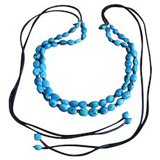 Paige Wallace 2 Strand Turquoise Belt or Necklace Discontinued