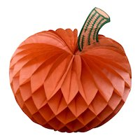 Mid 1900s Honeycomb Tissue Fold-Out Pumpkin