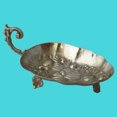Middle Eastern 84 Silver Spice Dish Repousse Fruit Ca 1940s