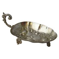 Persian 84 Silver Spice Dish Repousse Fruit Ca 1940s