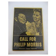 Ca 1940 Philip Morris Cigarette Advertising Pocket or Purse Mirror Bellhop