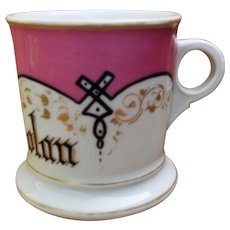 Ca 1930 HP Porcelain Shaving Mug Heinrich & Co Germany