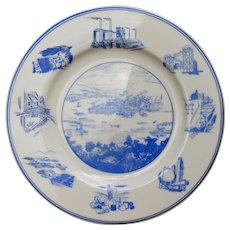 "1949 Pittsburgh Centennial Plate Joseph Horne Co. 10 3/4"""