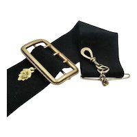 Victorian 14K Fob Buckle & Black Ribbon Pocket Watch
