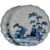 Pair 19th Cent Chinese Blue & White Porcelain Scalloped Plates