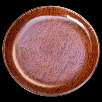 "Mendocino California Redwood Burl Shallow Bowl 11 1/4"""