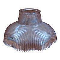 Vintage Holophane Prismatic Ribbed Glass Light Shade