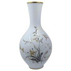 Rosenthal Porcelain Vase w/ HP & Jeweled Foliage Selb Germany Ca 1944
