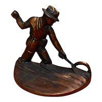 1946 Russwood Fly Fishermen Cast Bronze Bookends