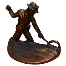 1946 Russwood Fly Fishermen Cast Bronze Bookends
