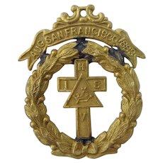 1883 Knights Templar San Francisco Triennial Badge