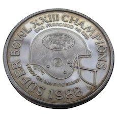 1988 Coin SF 49ers Super Bowl Champions 1 Oz Fine Silver