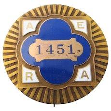 1915 AERA Convention San Francisco Enamel Badge - Red Tag Sale Item