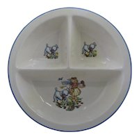 Ca 1940 Salem Child's Divided Bowl Mary Had a LIttle Lamb