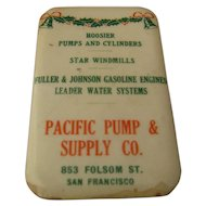 Ca 1900 Pacific Pump & Co SF Advertising Whetstone