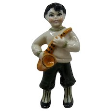 1948 Ceramic Arts Sax Boy Figure Betty Harrington