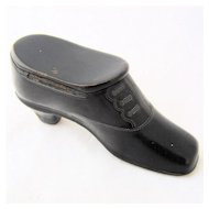 Victorian Shoe Match Safe Vesta Papier Mache