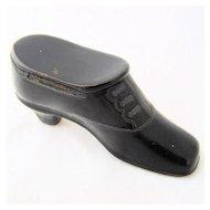 Victorian Shoe Match Safe Vesta Papier Mache