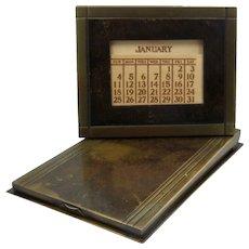 SilverCrest Bronze Desk Calendar & Note Pad Holder Arts & Crafts