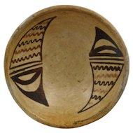 """Ca 1940 Small Hopi Pottery Bowl Inside Design 5"""""""
