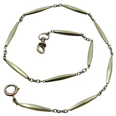 Early 1900 14K Yellow Gold Watch Chain Long Links 17.5 grams