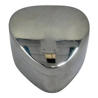 Small Mexico Sterling Silver Heart Shape Box