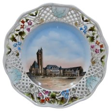 Ca 1930 Porcelain HP Plate Union Station St Louis