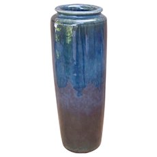 Tall Arts & Crafts Vase Hand Thrown Ca 1920s