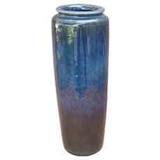 Tall Arts & Crafts Vase Hand Thrown Ca 1920s