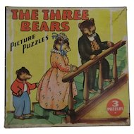 1941 The Three Bears Picture Puzzles Saalfield Publishers