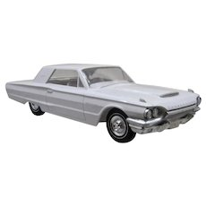 1964 White Thunderbird Plastic Dealership Promotional Model Car