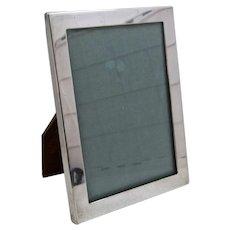 Tiffany & Co. Sterling Photo Frame 4 x 5 1/2 Wood Easel Back