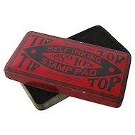 Ca 1910 Tip Top Stamp Pad Tin