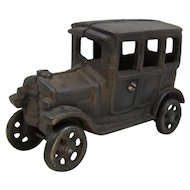 Vintage Cast Iron Model T Ford Sedan Toy Car