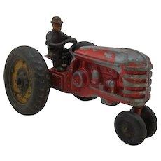 1950s Die Cast Massey Harris Tractor w/ CI Driver
