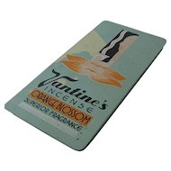 1930s Vantine's Deco Incense Tin Slide Top Orange Blossom