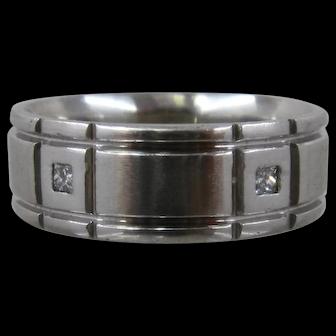 Verragio Platinum Band Ring w/ Diamonds Mens Collection Sz 10