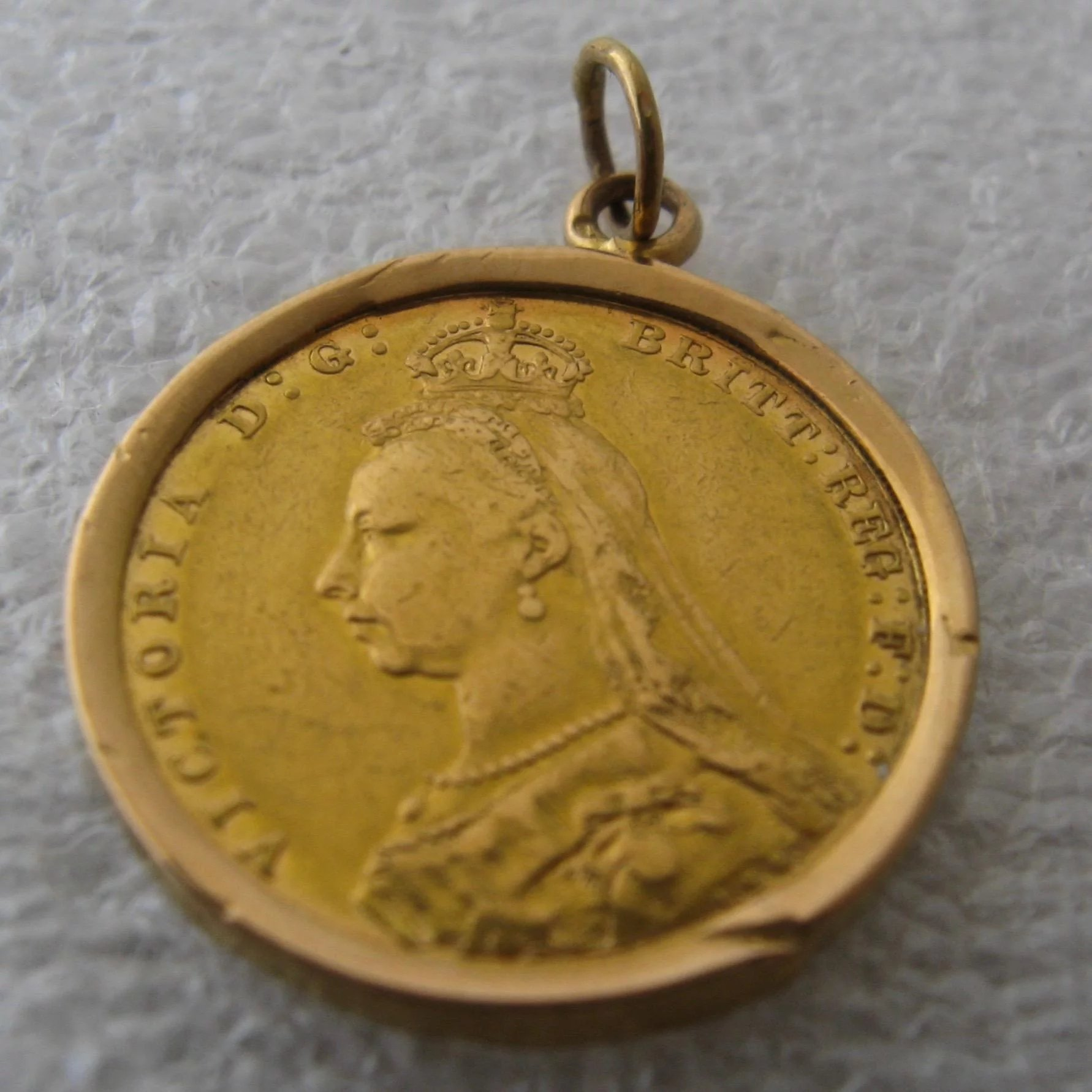 1891 british gold sovereign queen victoria jubilee head in bezel click to expand aloadofball Images