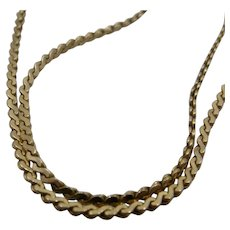 "14K Flat Wave Link Chain Necklace 16.5"" Long 3.8 Grams"