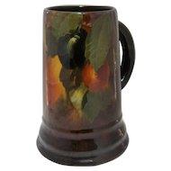 Ca 1900 Weller Pottery Aurelian Stein Mug Painted Plums