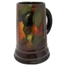 Ca 1900 Weller Pottery Aurelian Stein Mug Painted Plums