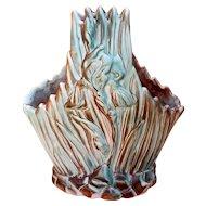 "Weller Pottery Ardsley Iris Basket Rare 1920s 12"" Tall"