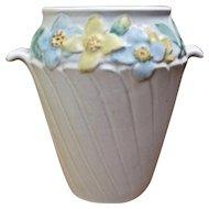 1930s Weller Mi-Flo Vase w/ Handles Flowers
