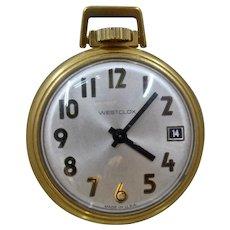 Vintage Westclox Mechanical Pocket Watch w/ Date