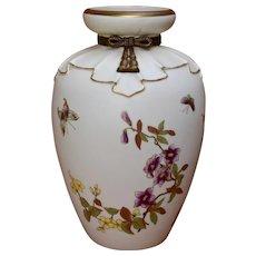 """Large 1880s Royal Worcester Vase for Shreve Blush Ware 11 3/4"""""""