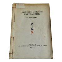 Yoshida Hiroshi Print-Maker Book w Prints 1953