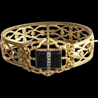 Vintage Late Edwardian-Art Deco Era Bangle Bracelet
