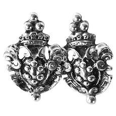 Sterling Italian Renaissance Revival Earrings