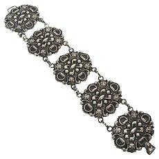 Carrcraft 925 Sterling Vintage Renaissance Revival Style Bracelet